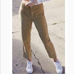 Brandy Melville Tilden Corduroy Pants - tan